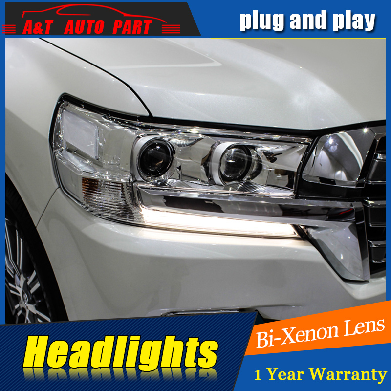 Car Styling For Toyota CRUISER headlight assembly For CRUISER LED head lamp Angel eye led DRL front light h7 with hid kit 2pcs. geely sc7 sl car front headlight head light transparent cover