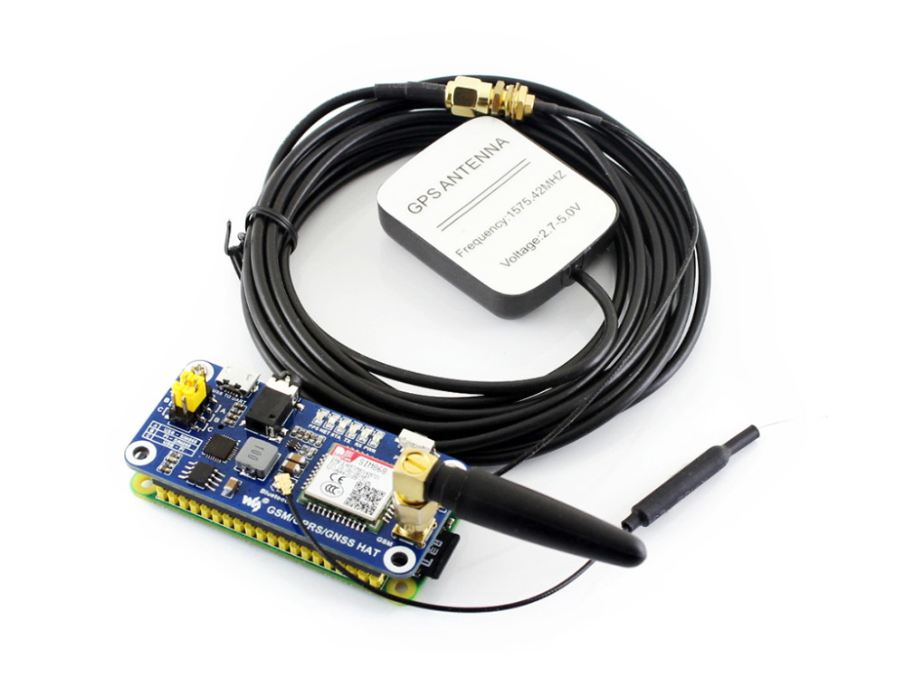 Low Power SIM868 GSM GPRS GNSS Bluetooth 3.0 HAT for Raspberry Pi 2B/3B/Zero/Zero W Support SMS Phone Call CP2102 UART Debugging