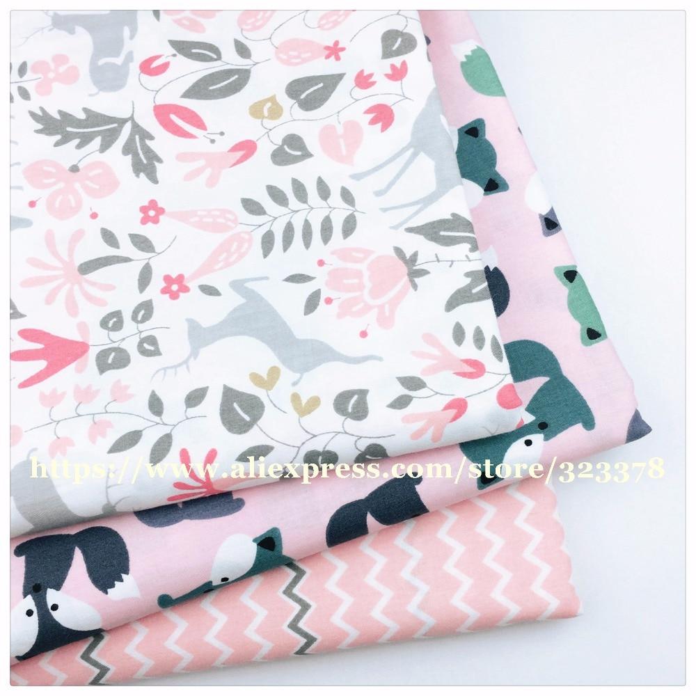 Chainho, Fuchs /& Crown Muster Gedruckt Twill Baumwolle Stoff, DIY Quilten Nähen Für Baby /& Kinder Blatt, kissen, Kissen, Spielzeug Material