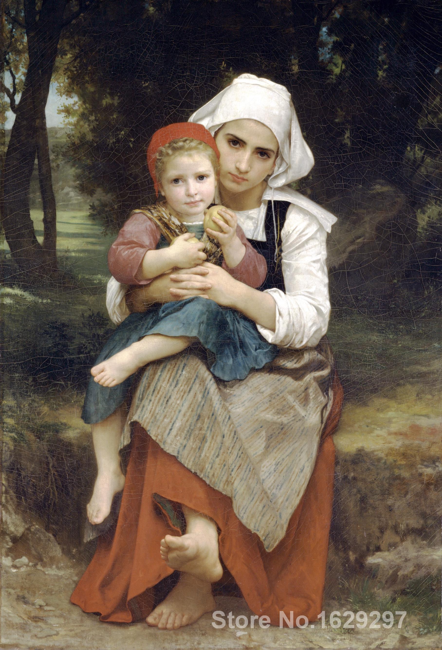 Breton hermano y hermana William Adolphe Bouguereau lienzo pintura ...