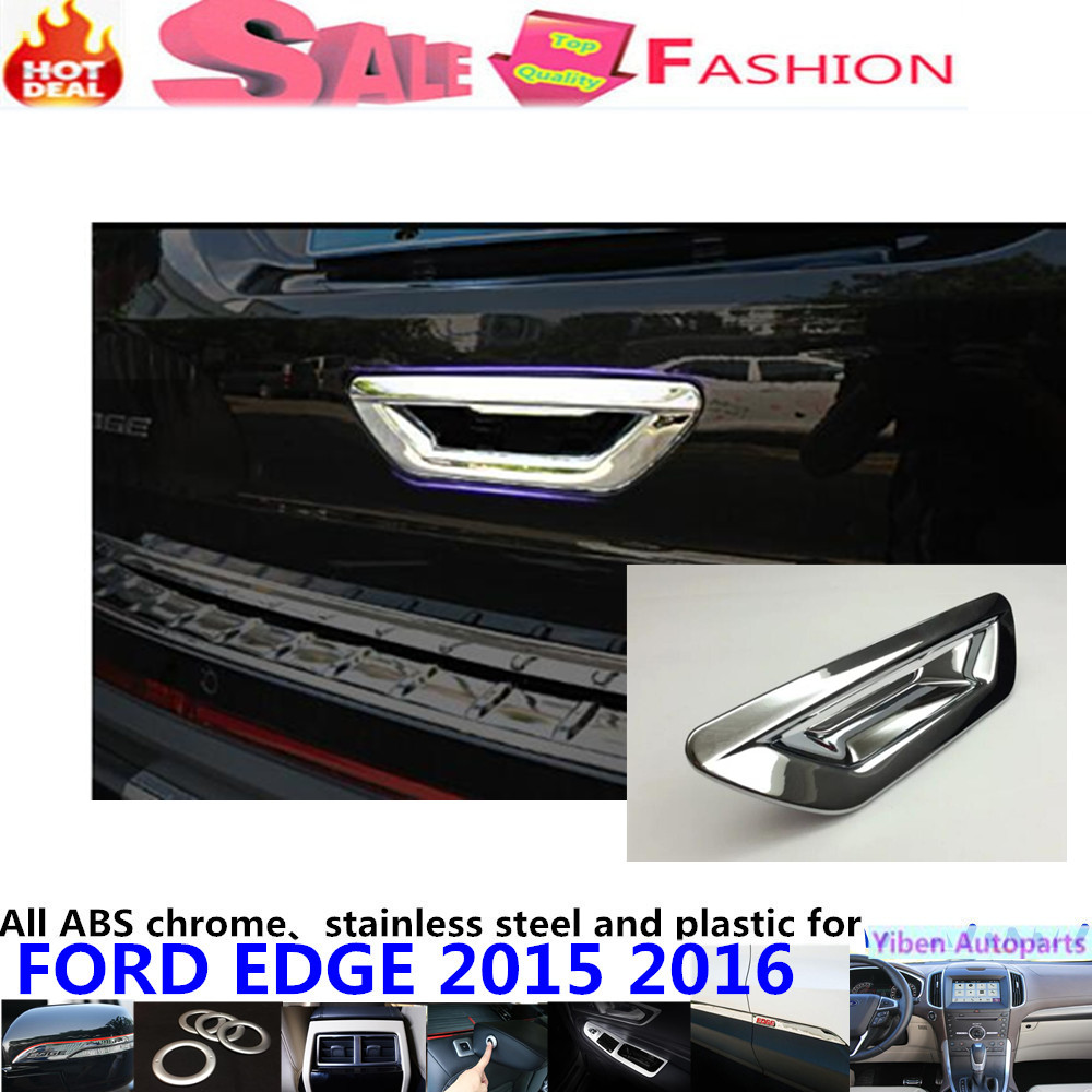 High quality detector stick frame trims abs chrome car tail rear door handle bowl lamp panel