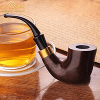 Bent Pipe tobacco Wood pipe tobacco ebony Tobacco pipes accessories Men's gifts Father's day gifts