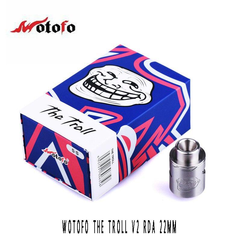 100% Original Wotofo Troll V2 RDA Tank 22MM electr...