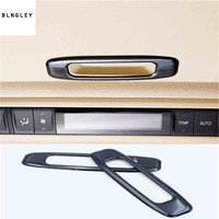 2pcs/lot Car sticker stainless steel sunroof shake handshandle decoration cover for 2015 2019 Toyota Alphard