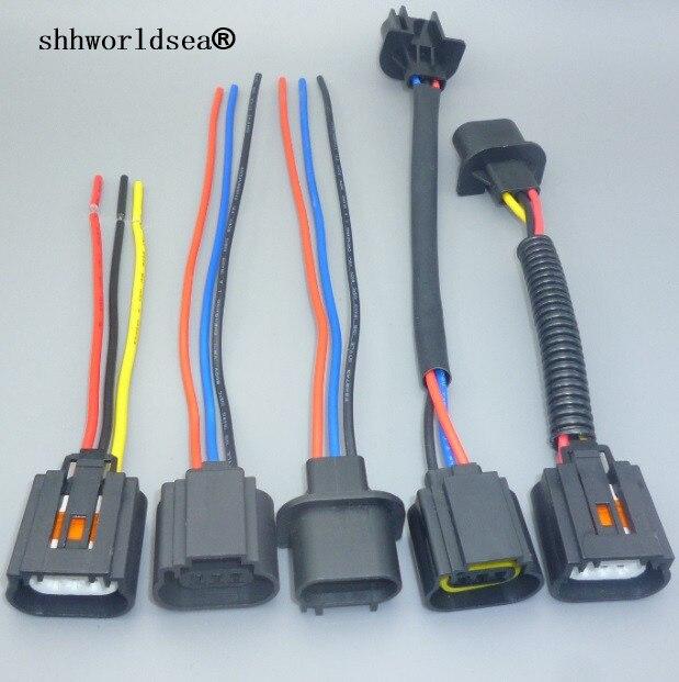 Swell Shhworldsea 1Pcs H13 9008 Headlight Bulb Male Female Wire Harness Wiring Digital Resources Ntnesshebarightsorg