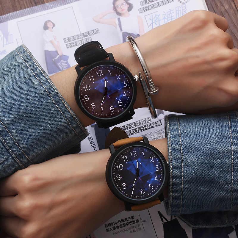 אופנה שעון יד נשים גברים שעון גבירותיי קוורץ שעוני יד לאישה שעון נשי שעות Hodinky Montre Femme גדול חיוג PU