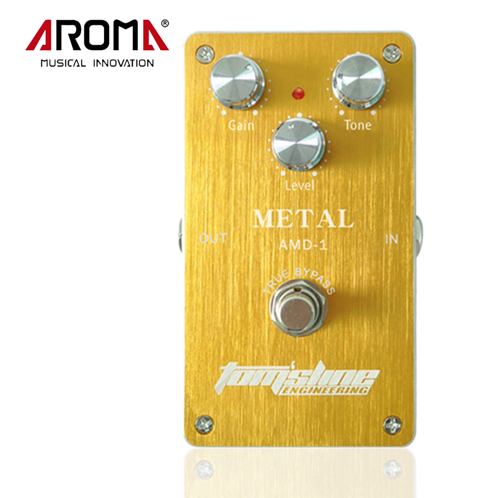 Aroma AMD-1 Aluminum Alloy Housing Metal Distortion Electric Guitar Effect Pedal True Bypass Low Power Consumption aroma ach 1 true bypass guitar electric effect pedal chorus low noise metal effectors guitar parts
