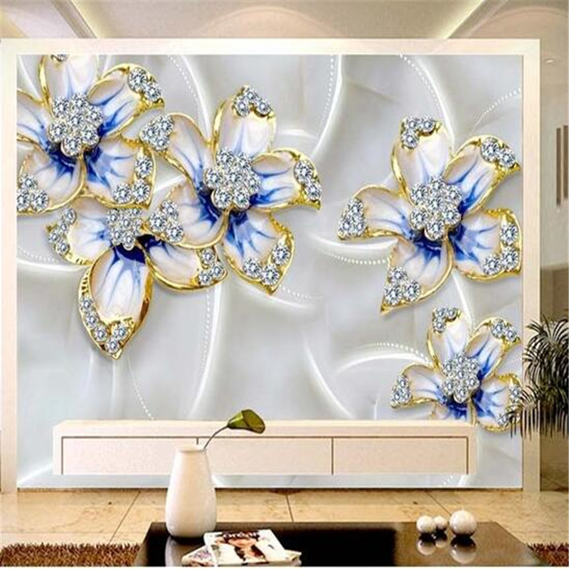 Wall paper custom photo wallpaper large murals fine for Mural jewellery