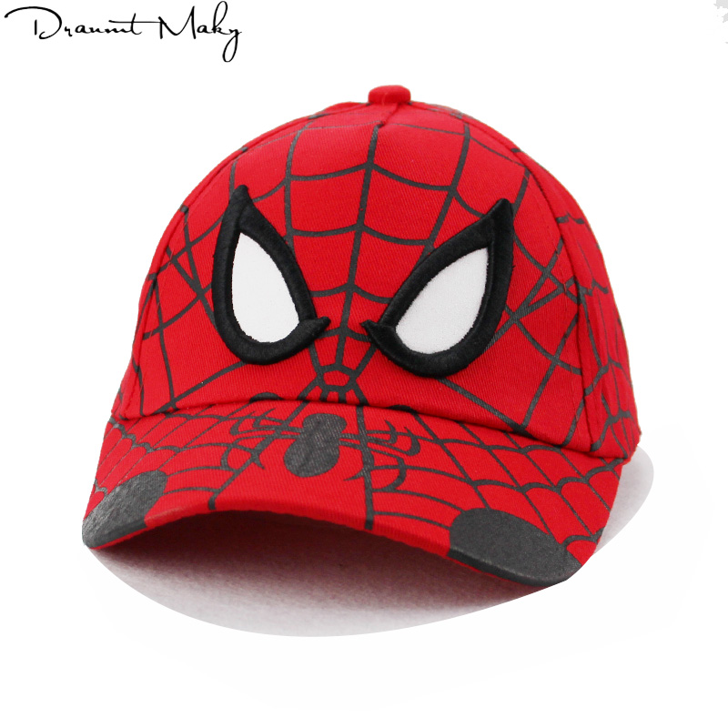 Children Spiderman Cartoon Snapback Baseball cap Hat Bone For Boys Girls Hip Hop Caps Kids Summer Hats Fashion Sun Hat Kids 2018 new fashion floral adjustable women cowboy denim baseball cap jean summer hat female adult girls hip hop caps snapback bone hats