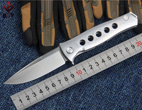 WTT TC4 Titanium Tactical Folding Knife CPM S30V Blade Utility Combat Camping Pocket Knives Survival Outdoor