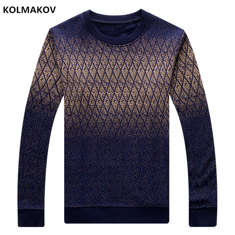 2018 Cotton Sweater Men Long Sleeve Pullovers Outwear Man O-Neck sweaters Tops Loose Printing Fit Knitting Clothing 2 Colors New
