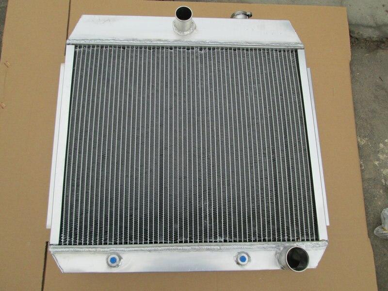 3 row aluminum radiator for Chevy BEL AIR V8 W COOLER 55 56 57 1955 1956