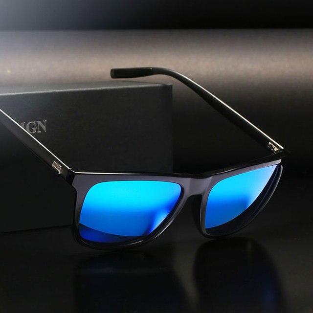 e11662a285 Polarized High Fashion Quality Men Sunglasses Women Square Brand designer  Polaroid Retro Sun glasses UV400 Mirror Eyewear Male
