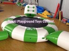 5 meters water jumping font b bouncer b font inflatable water trampoline air aqua font b