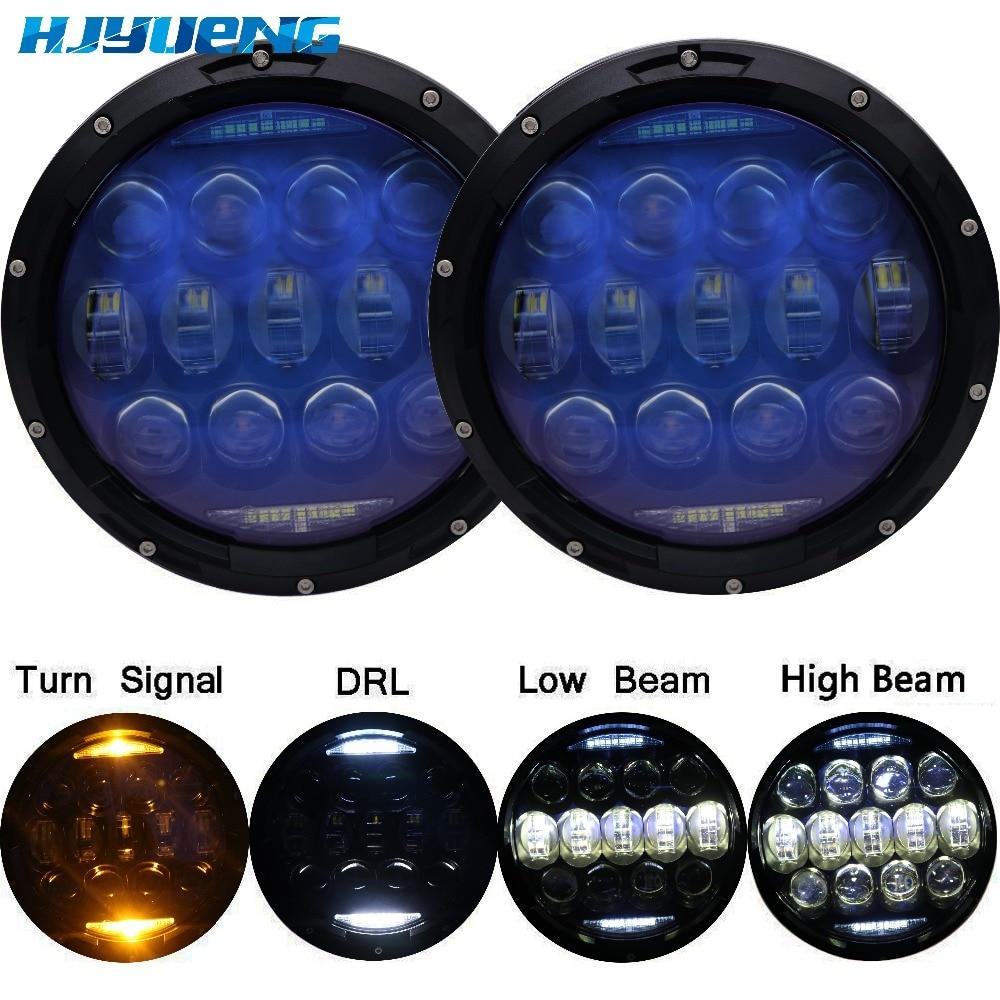 HJYUENG 135w синий яркий 7-дюймовый проектор объектив для 4X4Urban Лада Нива светодиодные фары янтарные шарики для Jeep Вранглер JK ЖЖ