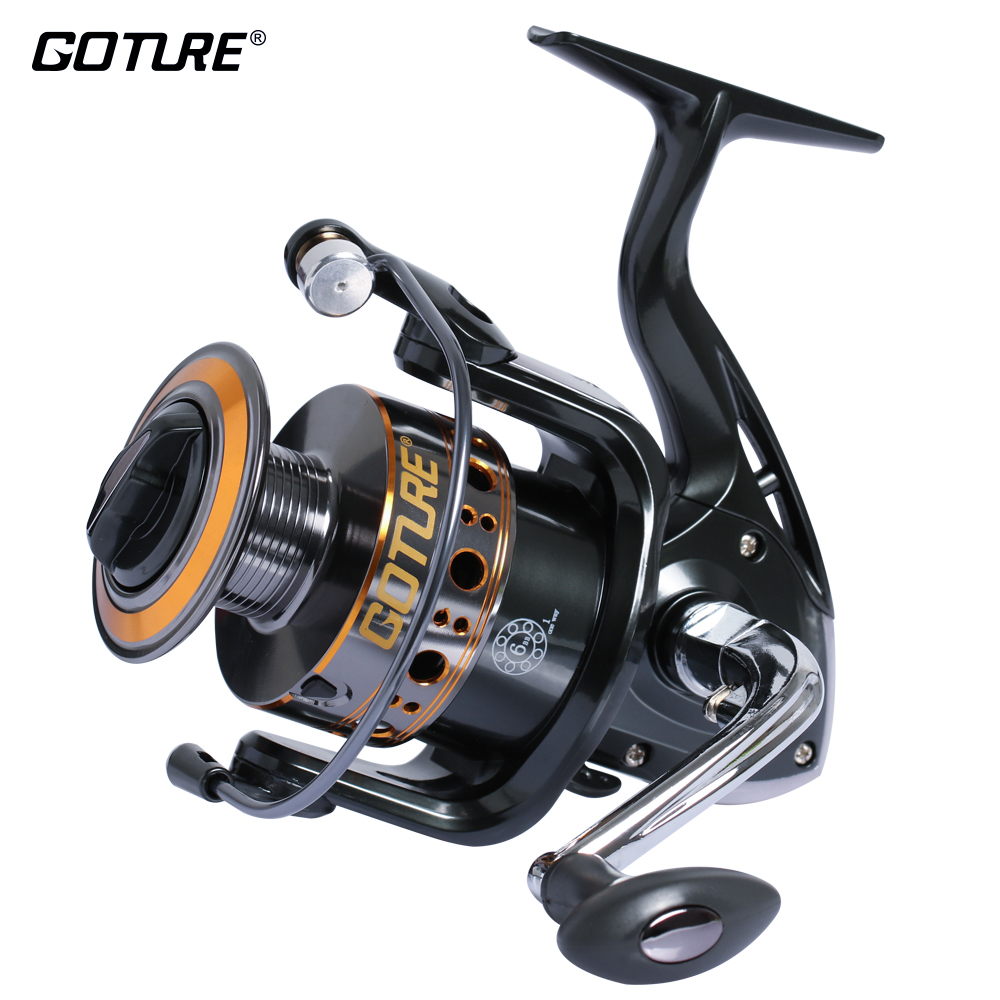 Goture Spinning Fishing Reel 6 Ball Bearings +1 Roller Bearing 1000-7000 Series Spinning Reel Boat Rock Балық аулау дөңгелегі