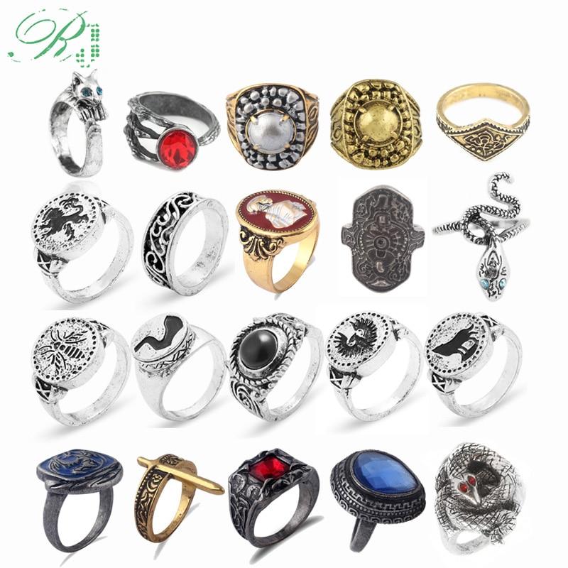 RJ Прямая поставка кольца с темными душками кольцо хавела с демоном шрамом хлорантом кольцо для косплея кольца для мужчин ювелирные изделия ...