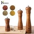 KONCO деревянные мельницы для соли и перца  деревянные мельницы для специй и перца  ручные мельницы с регулируемым керамическим кухонным инст...