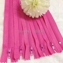20 unids Nylon bobina cremalleras Tailor herramientas de costura Craft 9 pulgadas Fushia color