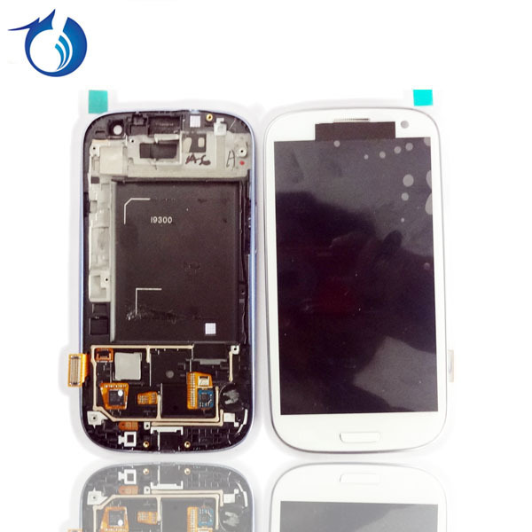 100% Original lcd+touch screen complete assembly for Samsung galaxy s3 I9300 by HK Post  free shipping