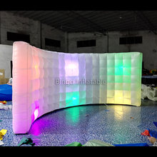 Top design medium 4M curve led inflatable wall for display toy tent(China)