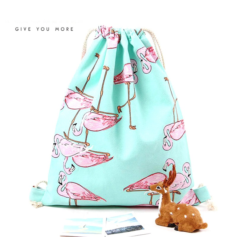 Fashion Girls Shoulder Bags Women Canvas/Cotton Backpack Bag Shoe Travel Pouch Portable  ...