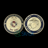 Wholesale America gold plated coin collectible 8th Marine Regiment crafts Unite States Marine Corps challenge coins for gift