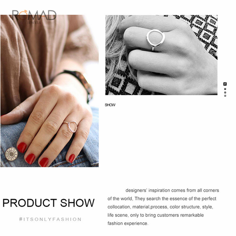 925 Sterling Silver Ring Geometric Hollow Gold Ring For Women Simple Engagement Rings Fine Jewelry Gifts in Engagement Rings from Jewelry Accessories