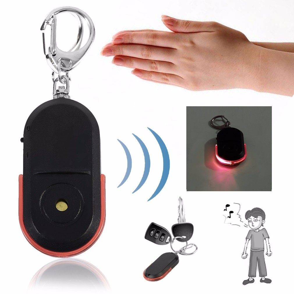 Portable Old People Anti-Lost Alarm Key Finder Wireless Useful Whistle Sound LED Light Locator Finder Keychain High Quality цена и фото