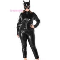 Nightclub Womens Sexy Wild Game Uniform Temptation Cat Girl Leather Models Nightclub Club Dancer Costumes Sexy Lingerie
