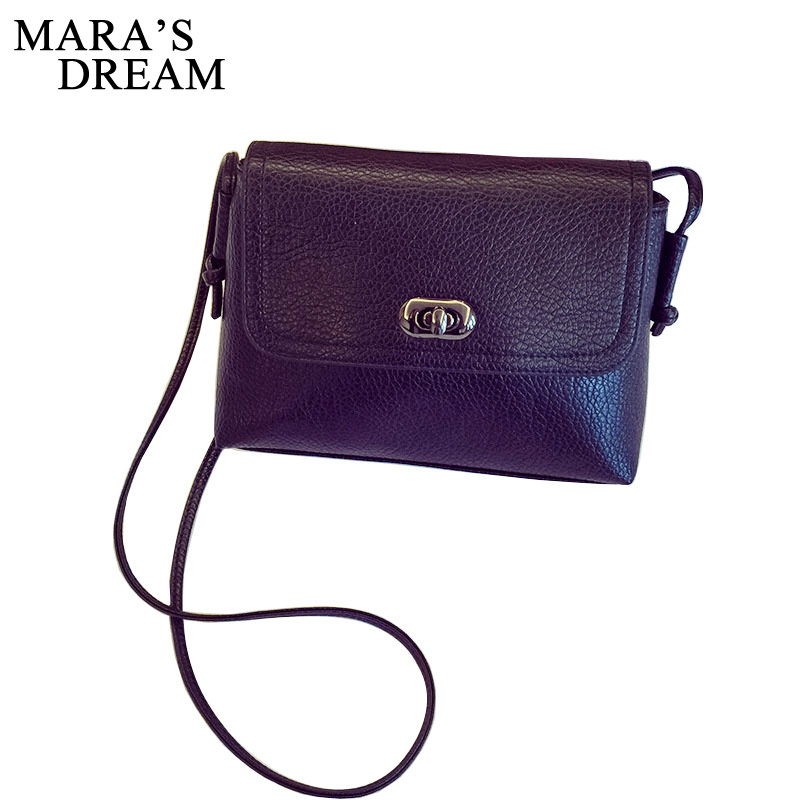 Mara's Dream 2018 Women Leather Handbag Cross Body Shoulder Messenger Bag Luxury Women Bags Designer Famous Brands High Quality