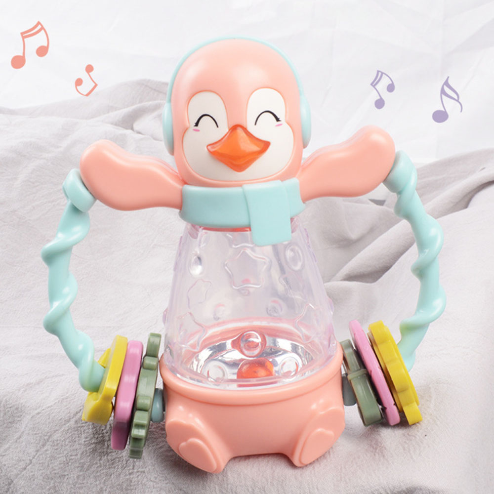 Newborn Rattle Animal Music Hand Catching Bell Infant Early Education Enlightenment Toy  Baby Comfort Toy Child Musical Toys