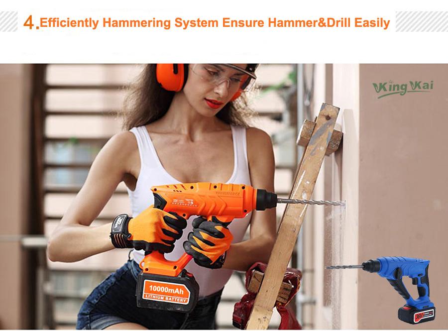 HTB1im OSpXXXXXQapXXq6xXFXXXV - 828 5000 10000mAh Long Duration Hammer Cordless Drill Rechargeable Lithium Battery Multifunctional Electric Hammer Impact Drill