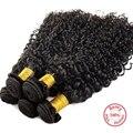 Evet peruano rizado Afro Wave extensiones de cabello rizado rizado pelo de la virgen 1 Bundles no procesados humano de las tramas del pelo rizado 100 g/pcs
