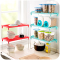 Kitchen Organizer Multilayer Superposition Shelf Storage Rack S&L Size in Pink Green Blue Stainless Steel Holders Tool Rest