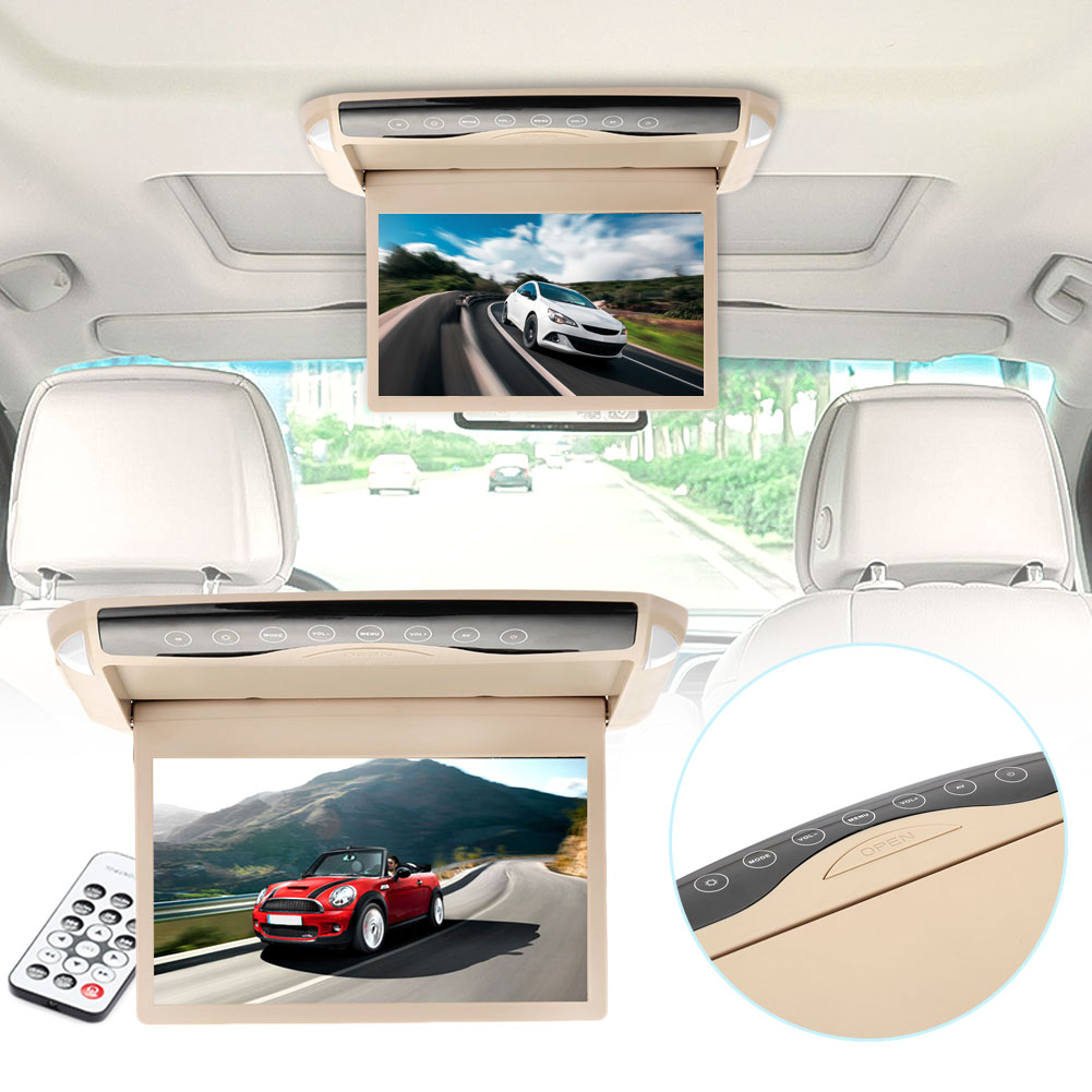 Vehemo TFT LCD Ceiling Mount Premium Quality Universal Video Player Fm Radio Car Electronics Audio Player Touch Screen