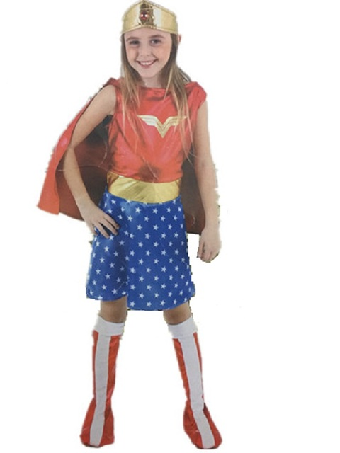 CaGiPlay Kids Halloween Costumes For Girls Wonder Woman Costume Dress Girl Anime Cosplay Clothing Disfraces Carnaval  sc 1 st  AliExpress.com & CaGiPlay Kids Halloween Costumes For Girls Wonder Woman Costume ...