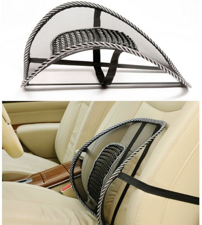 3pcs New Car Seat Chair Back Massage Black Lumbar Support Mesh Ventilate Cushion Pad for Office &Car seat home and truck chairs massage chair cushion for neck shoulder back waist with far infrared heating and vibration massage heat seat for home car office