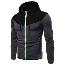 2019 new color patched men hoodies cotton Eu size mens sweatshirts hoodies long sleeve zipper sweatshirt for men недорого