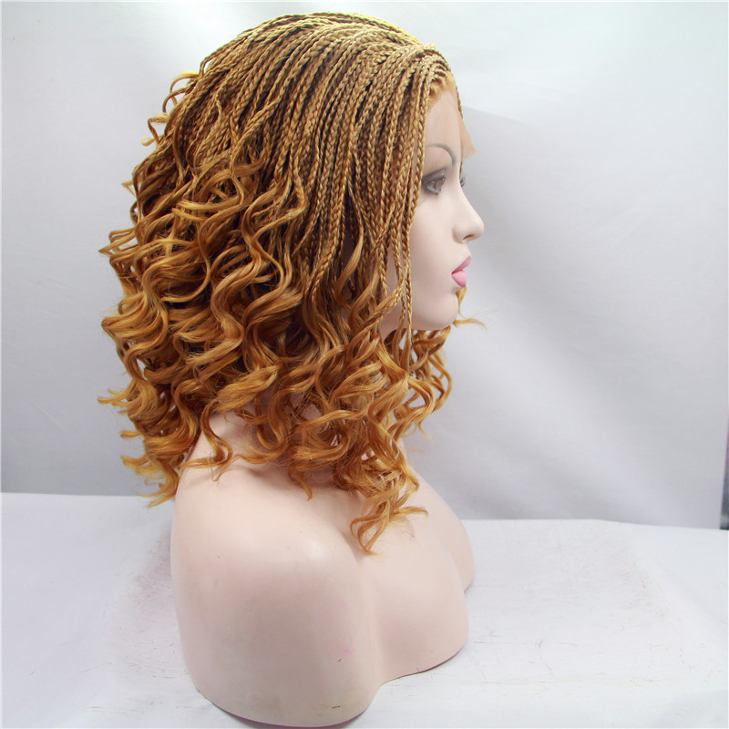 Free Shipping Curly Braided Synthetic Lace Front Wigs