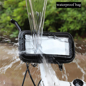 Image 5 - Motorrad Telefon Halter Für Samsung Galaxy S8 S9 S10 Für iPhone X 8Plus Unterstützung Mobil Fahrrad halter Stehen Wasserdichte für Moto Tasche