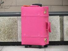 Индивидуальные! оптовая Продажа старинные дорожная сумка, 18 «20» 22 «24» 28 «30» Женщина/Мужчина искусственная кожа путешествия багажные сумки на колеса