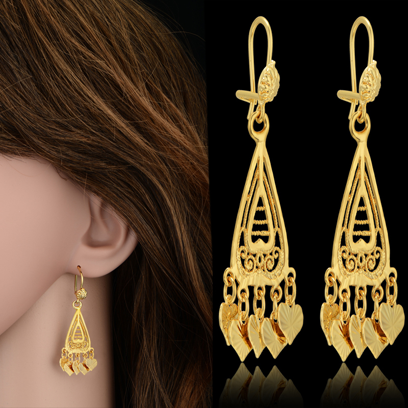 Indian gold jewelry earrings