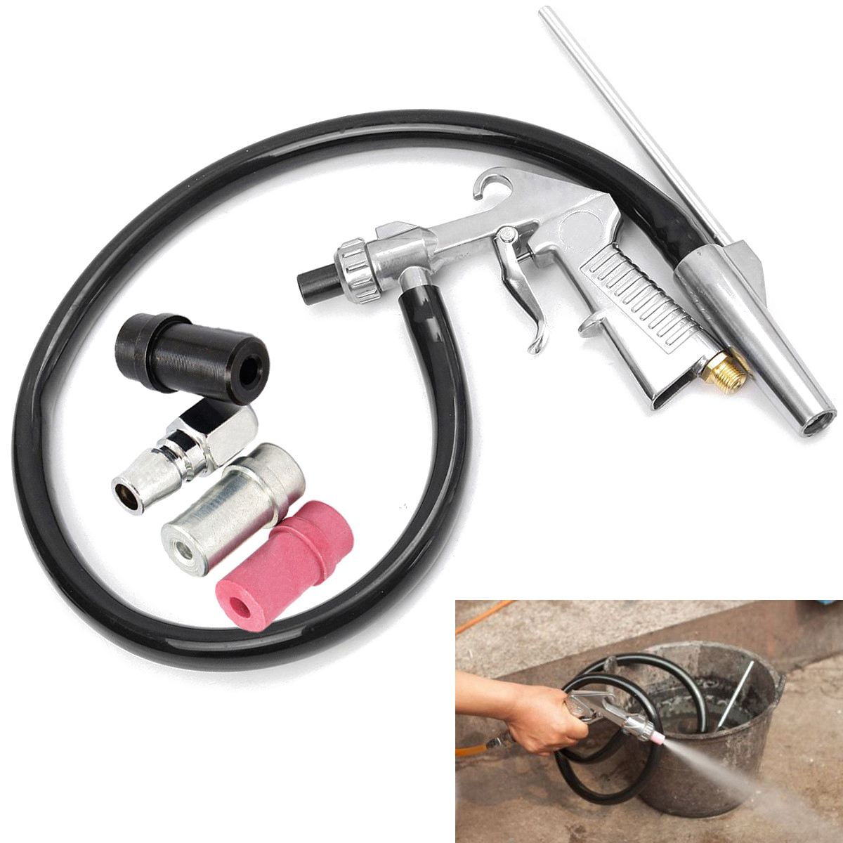 High Quality Air Sand Blasting Gun Kit  Sandblaster Kit Sandblasting Blast Gun+3 Nozzles+Connector+Tube Derusting Tool Kit