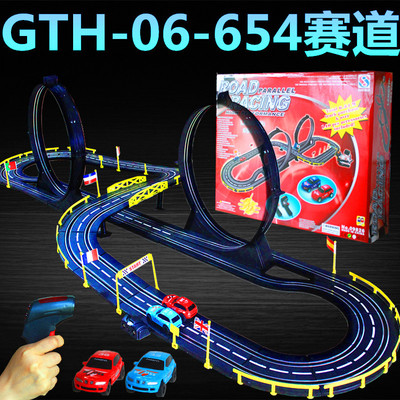 1:43 Electronic Railcar Plastic Orbit High Track Racing Car games slot car generate rc Toys Track Toys for children juguetes