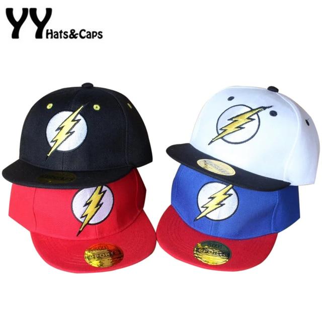 2cbfdfbd2b598 Flash SnapBack gorras para niños gorra de béisbol de verano Cool Boy  hip-hop sombreros