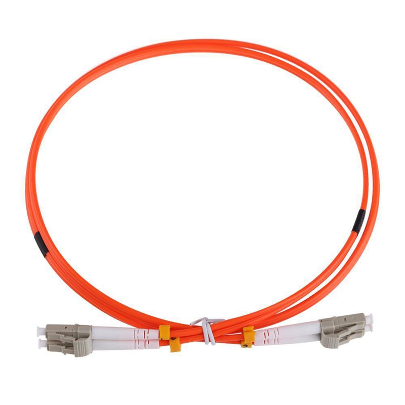 1M Jumper Cable Duplex Multimode LC-LC LC To LC Fiber Optic Optical Patch Cord