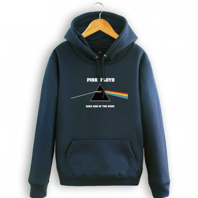 Pink Floyd Rock man's thick hoodie Dark sideof the moon couples warm cozy hooded sweatshirt thick fleece Punk Rock coat S-3XLtop