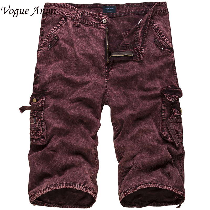 Vogue Anmi Mens Military Cargo Shorts 2018 Brand New Black Camouflage Tactical Shorts Men Cotton Loose Work Casual Short Pants