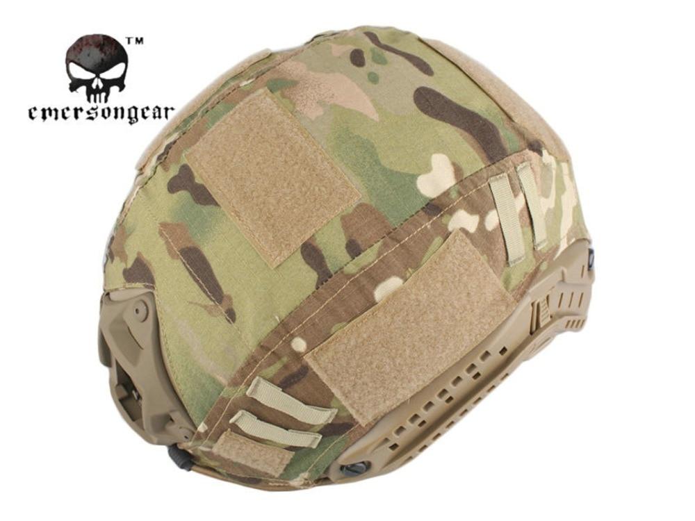 Prix pour Militaire Airsoft Tactique Casque Couverture Combat EMERSON Fast Helmet Cover Multicam AOR1 EM8825